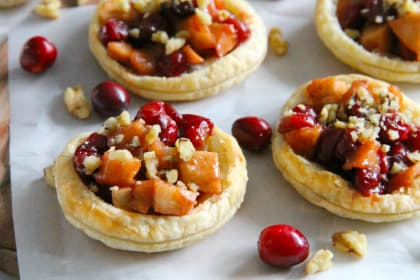 Cranberry Apple Walnut Tarts Recipe
