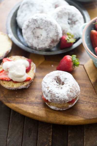 Strawberry Cream Cheese Donut Sandwiches Pic