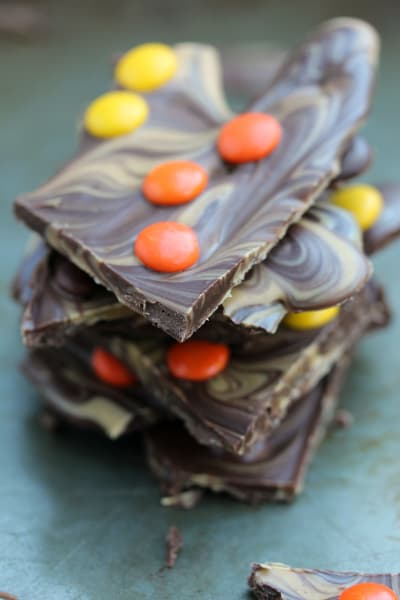 Reese's Pieces Chocolate Bark Picture