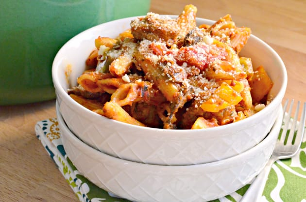 Sausage and Peppers Pasta Photo