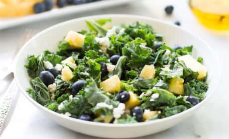 Kale Blueberry Pineapple Salad Recipe