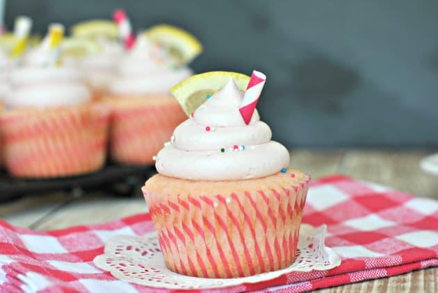 Pink Lemonade Cupcakes Using Cake Mix