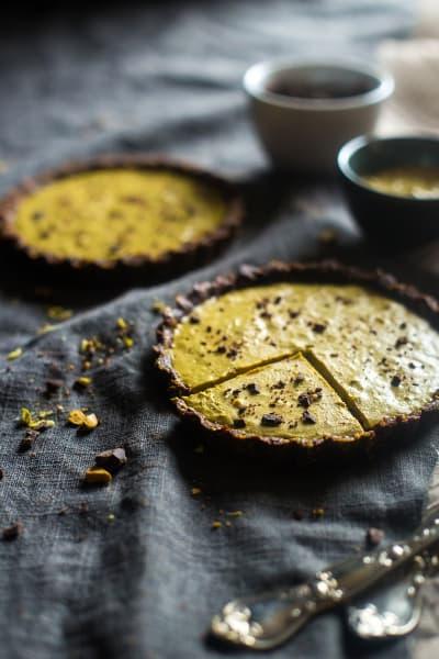 Vegan Chocolate Tarts with Pistachios Pic