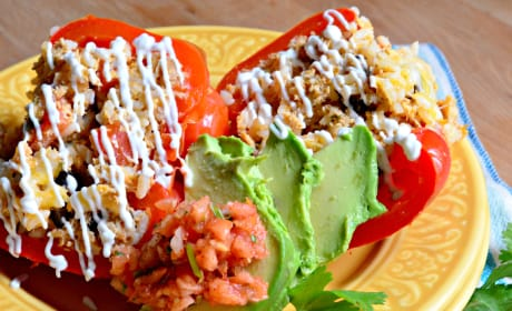 Slow Cooker Shredded Chicken Taco Stuffed Peppers Pic
