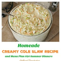 Homemade Creamy Cole Slaw Recipe
