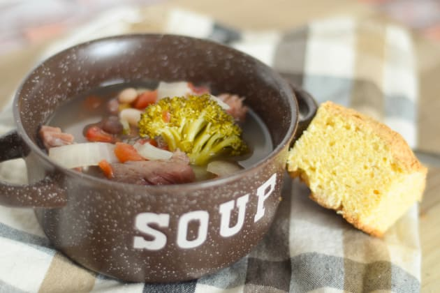 Slow Cooker Ham and Bean Soup Photo