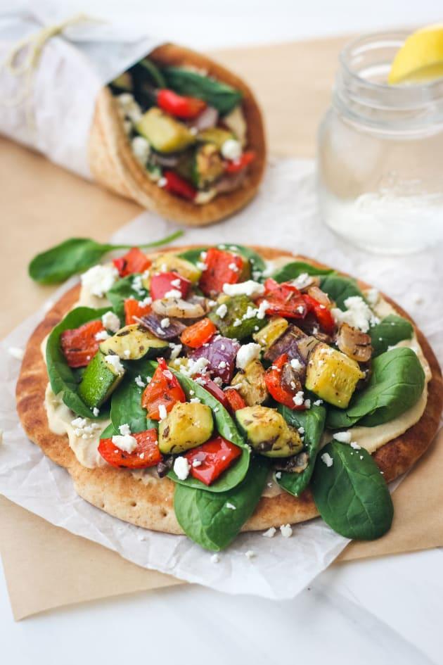 Zucchini and Hummus Pita Sandwiches Picture
