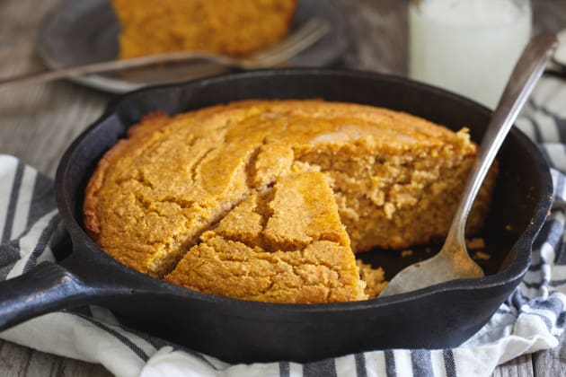 Vanilla Pumpkin Skillet Cornbread Photo