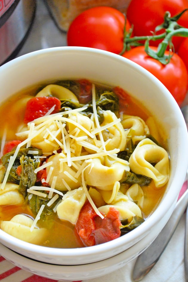 Instant Pot Tortellini Soup with Spinach Picture
