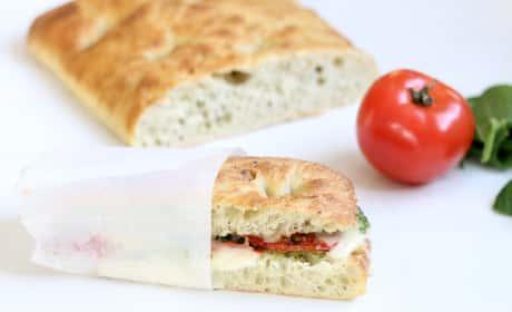 Roasted Tomato Mozzarella Panini Recipe