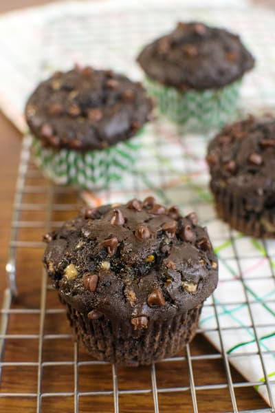 Double Chocolate Zucchini Muffins Pic