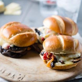 Portobello veggie sandwich photo