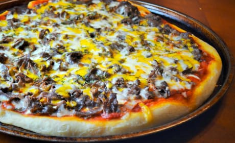 Philly Cheesesteak Pizza Recipe