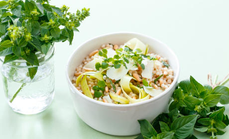 Deconstructed Pesto Couscous Salad