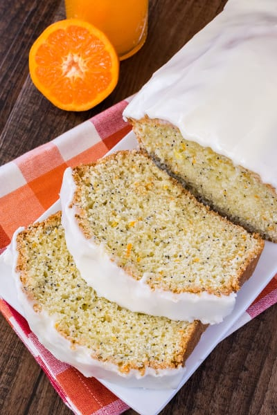 Frosted Orange Poppy Seed Bread Image