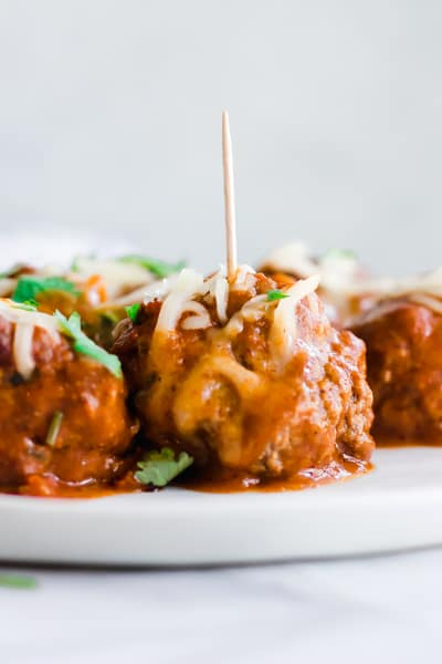 Tex Mex Enchilada Meatballs Picture