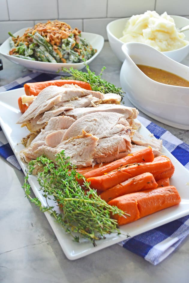 Instant Pot Turkey Breast with Carrots and Homemade Gravy Pic