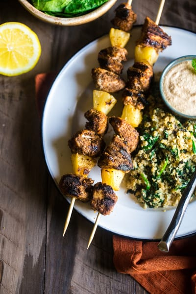 Paleo Indian Chicken Kebabs Picture
