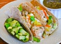 Jerk Fish Tacos with Pineapple Slaw