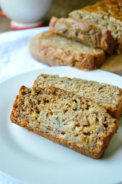 Healthy Peach Banana Bread Image