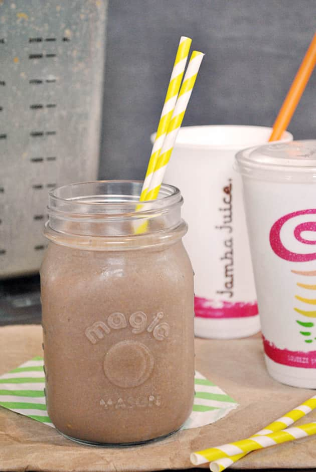 Jamba Juice Peanut Butter Moo d Smoothie: Homemade and the Best! - Food Fanatic