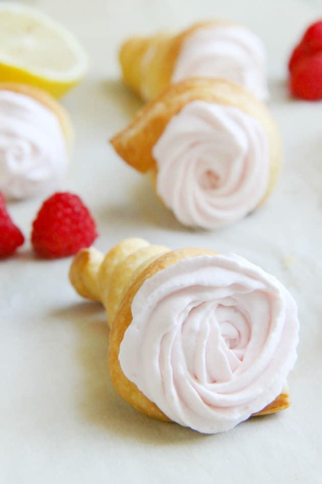 Lemon Raspberry Cream Horns Image