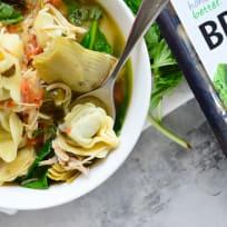 Lemon Artichoke Chicken Tortellini Soup Recipe