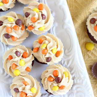 Peanut butter cup brownie cups photo