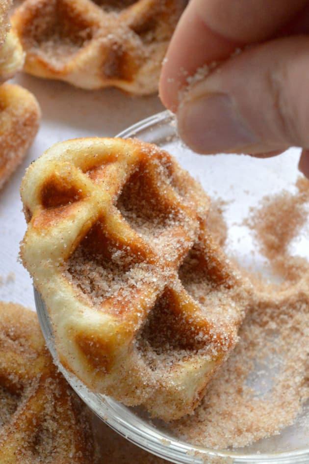 5 Minute Cinnamon Sugar Waffle Bites Picture