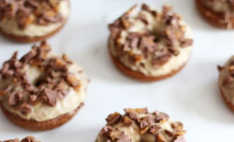 Baked Peanut Butter Chocolate Donuts Picture