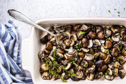 Garlic Butter Baked Mushrooms