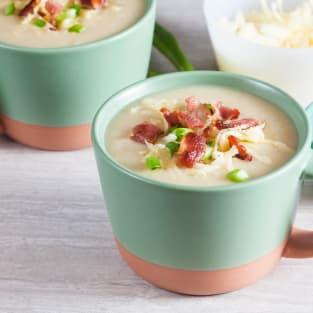 Lighter loaded baked potato soup photo