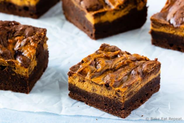 Pumpkin Cheesecake Brownies Photo