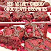 Red Velvet Cherry Chocolate Brownies