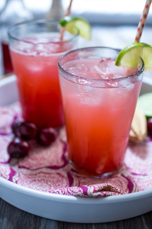 Cherry Lime Rickey with Gin Pic