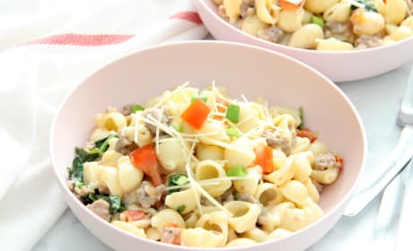 Creamy Sausage and Tomato Pasta Photo