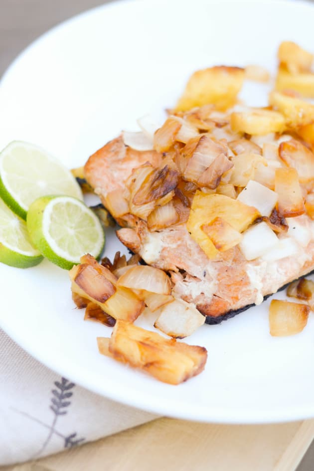 Grilled Salmon with Pineapple Salsa Picture