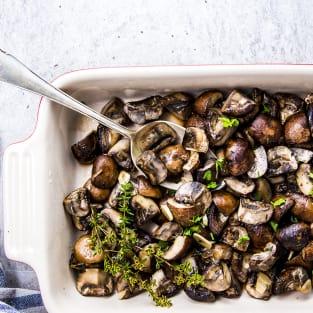 Garlic butter baked mushrooms recipe photo