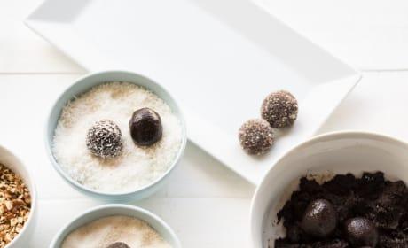 Chocolate Rum Balls Process Photo
