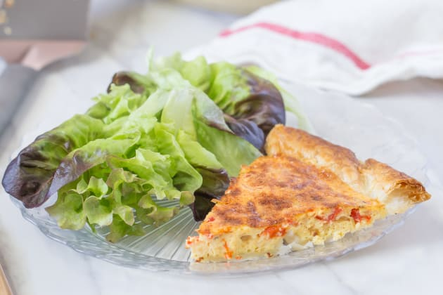 Roasted Red Pepper Quiche Photo