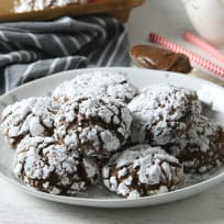 Chocolate Hazelnut Crinkle Cookies Recipe