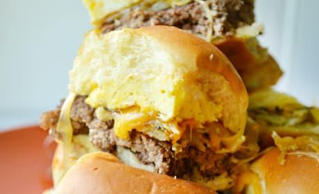 Cheesy Hash Brown Breakfast Sliders Recipe