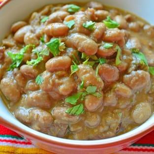 Slow cooker ranchero beans photo