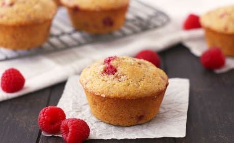 Raspberry Lemon Corn Muffins Recipe