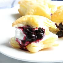 Blueberry Cream Puffs Recipe