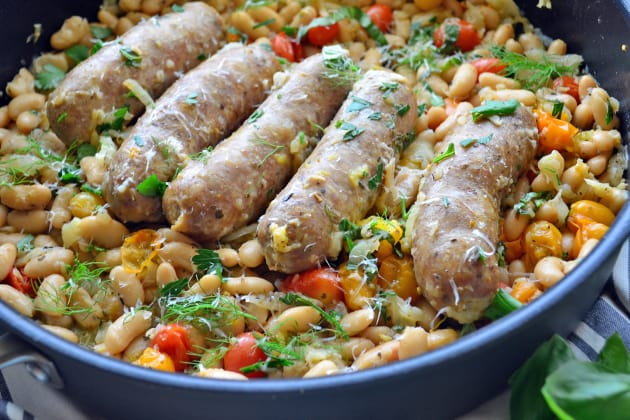 Italian Sausage and White Beans Skillet Photo