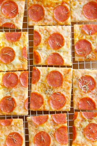 Puff Pastry Pepperoni Pizza Image