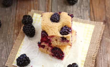 Lemon Blackberry Baked Pancake Recipe