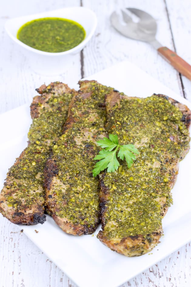 Grilled Chimichurri Steaks Picture
