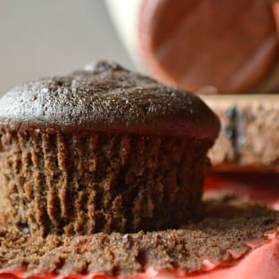 Double chocolate ginger muffins photo